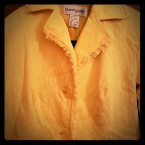 Bloomingdale's yellow crop blazer